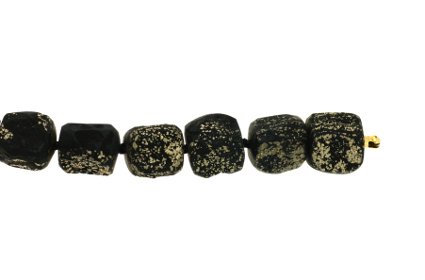 49030-10,  Vario beads Slate Pyrite nuggets, alloy 999