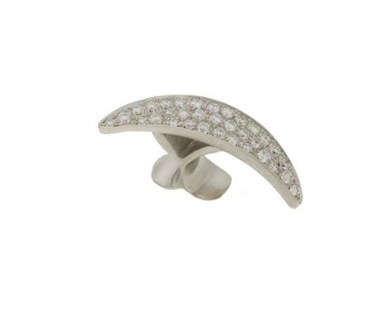 50134,  Vario ring top half moon diamond, alloy 960