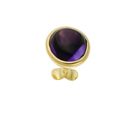50173,  Vario ring top Amethyst, alloy 750