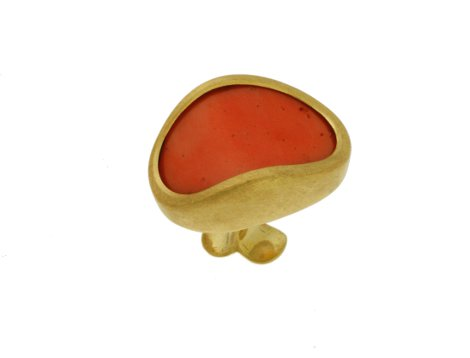 50195,  Vario ring top coral, alloy 750