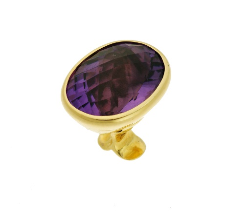50205,  Vario ring top Amethyst, alloy 750